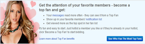 Becoming a Top Fan